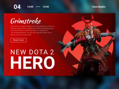 New Dota 2 hero | Web site