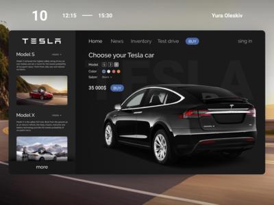 Tesla Web design for Elon Musk