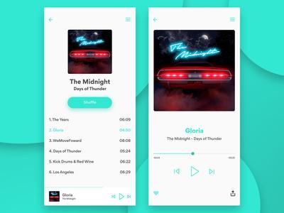 Daily Ui 009 - Music App