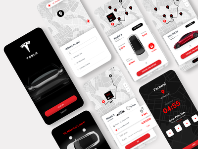 Tesla Share App app design web appdesign app design ux ui