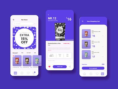 Coffee shop Ui Design Concept app design appdesign app design ux ui