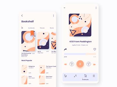 Book App Concept audiobook book app reading app dailyui web app design appdesign app design ux ui