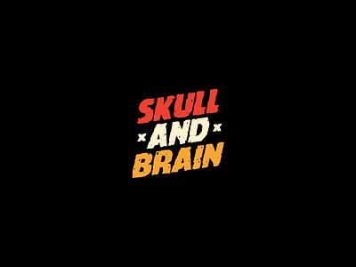 Skull & Brain Brewery logos logo branding concept design skulls wordmark logotype logomark type beer branding skull logo beer brewery brain skull