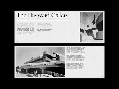 The Hayward Gallery history design white space minimal layout minimal layout design layout type design typography print design print brutalist brutalism