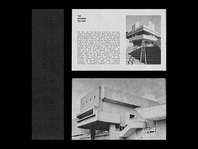 The Hayward Gallery - V.2 layout design design typography art print design print hayward gallery architecture brutalism brutalist typography whitespace layout