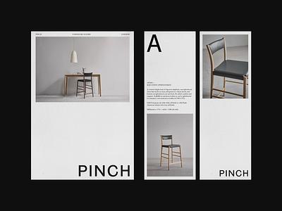 PINCH - Avery Barstool whitespace poster branding identity texture studio typography logodesign grid print interior furniture layout