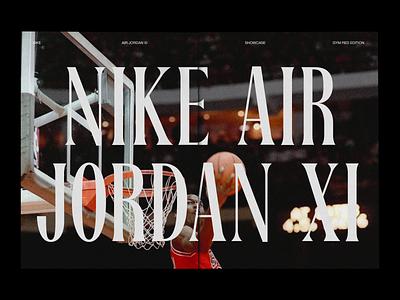 Nike Air Jordan XI - Zine concept design basketball air jordan nike print design print editorial book typography layout magazine zine
