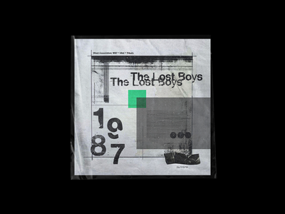 The Lost Boys 1987 concept design composition layout lost boys film typography grunge halftone print paper colour texture artwork swiss grit