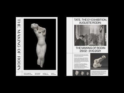 The Making of Rodin Exhibition typography concept design print poster layout sculpture art tate modern tate museum exhibition