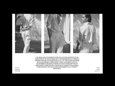 Massimo Dutti 'Join Life' S/S19 - Lookbook white space modern editorial fashion ss19 lookbook landing page ux ui layout typography concept design