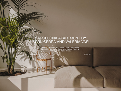 Barcelona Apartment by Isern Serra & Valeria Vasi 1/2 clean minimalistic lookbook magazine zine editorial interior design interior furniture print layout typography design