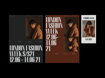 London Fashion Week - June S/S21 photography print concept design layout design whitespace minimal modern layout typography fashion poster