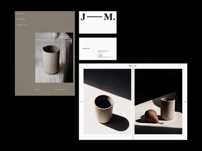 Jocelyn M. business card photography zine magazine whitespace type editorial branding print layout concept typography design