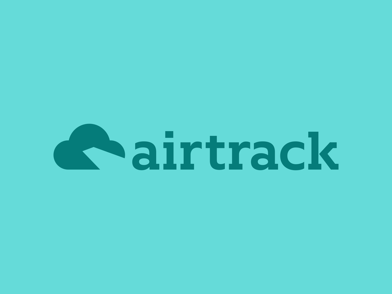 Airline Logo - Daily Logo Challenge (Day 12) fake concept airplane icon kern skybound pioneer airtrack negative space cloud blue plane flight airline