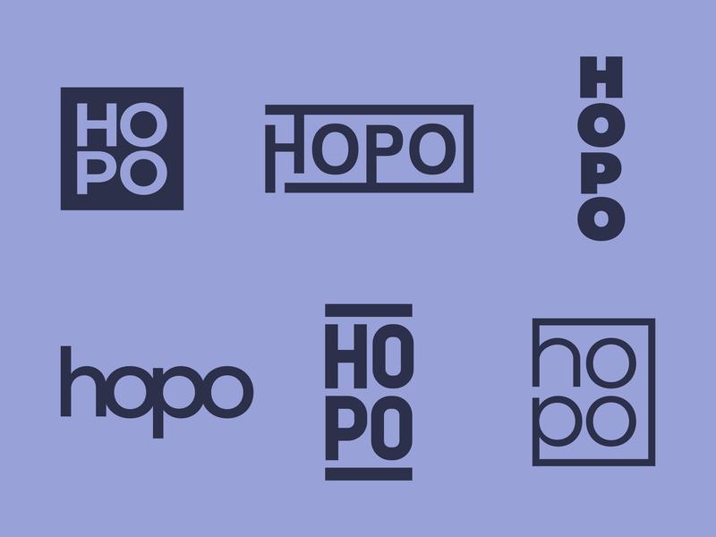 HOPO - Daily Logo Challenge Day 19 letter font affinity designer animal logotype text type blue australia sunnies heaps hopo revisions ideas concept logo kangaroo