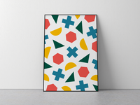 Geometric All-Over Poster