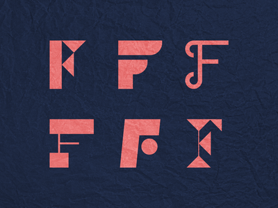 Letter F icons