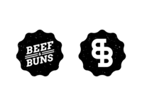 Beef & Buns - Badge Designs (Daily Logo Challenge - Day 33)