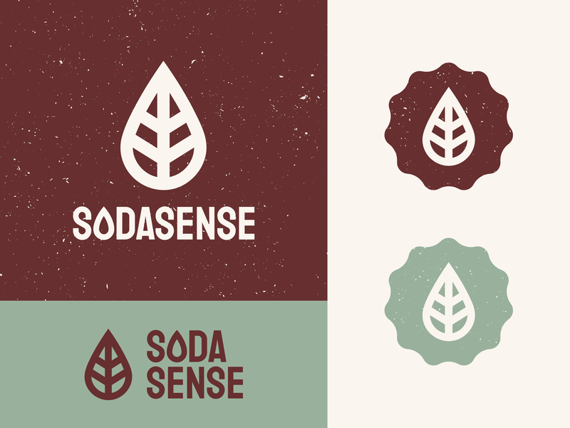 Unused Soda Carbonation Logo co2 logotype leaf organic natural drop water icon badge sodasense soda concept unused logo