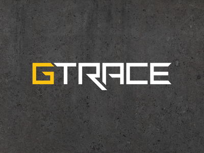 GTRACE - Custom Logotype location geometric brand type branding text concept custom gtrace logotype logo