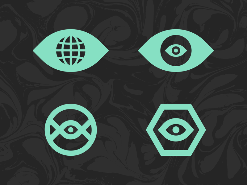 Eye Symbols 👁 illustration negative space simple branding concept threadless icon symbol logo eyeball eye