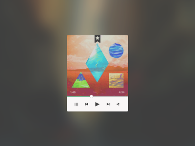 Mini player ui mini player user interface music simple