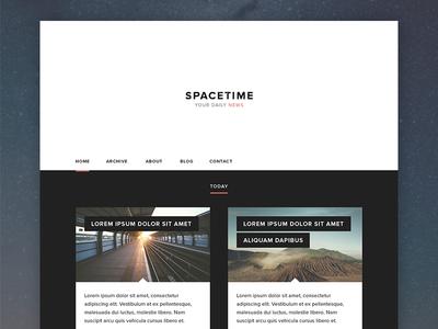 Spacetime space spacetime news news website webdesign simple design minimal