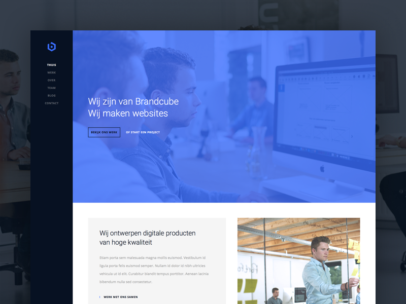 Brandcube Website company company website webdesign cases portfolio ui website brandcube