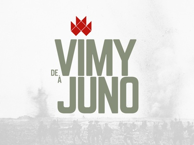 From Vimy to Juno logo