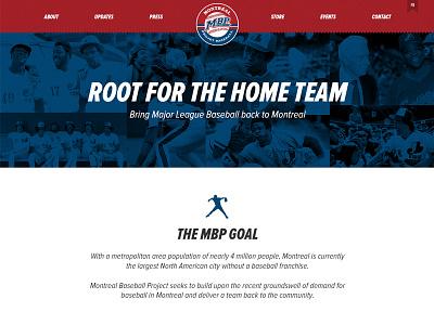 Mbp Home canada sports web design webdesign major league warren cromartie expos baseball montreal