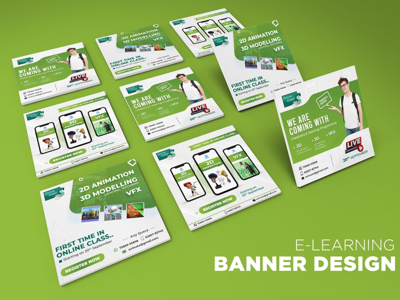 Banner design for E-learning Tutor promotiondesign graphicdesign designwork elearning onlinelearning educationbanner