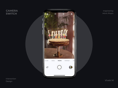 Switching Camera 3d animation camera 3d interaction aftereffects animation minimal daily ui clean app design ui  ux ui