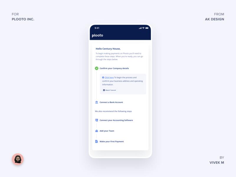 Plooto Inc - Checklist checklist progess ios landing design mainpage ux app minimal product brand design ui  ux design clean