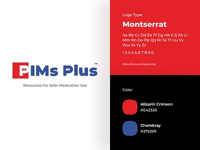 PimsPlus - Logo medicine idenity graphic interface ui  ux design illustration typography product minimal health logo branding