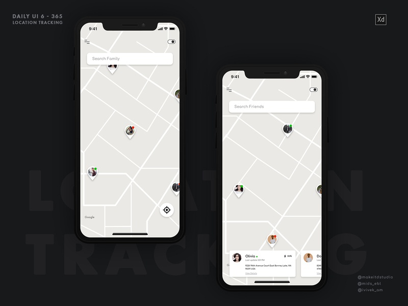 Location Tracker location pin location tracker location app location minimal interface iphone product interaction animation ux clean design app daily ui ui  ux ui