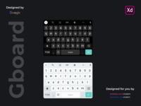 Google GBoard UI Kit