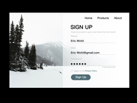 SIGN UP WEB