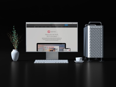 Apple Pro Display XDR with Mac Pro Mock up apple cinema 4d mac pro website logo xdr display xdr mockup modern clean black 3d