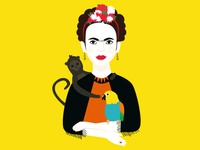 Frida Kahlo Illustration | Feministory Project