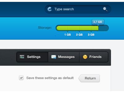 Jazzboard Website shot search progress bar menu buttons