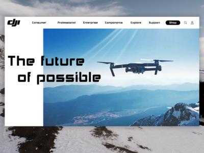DJI design website web ux ui