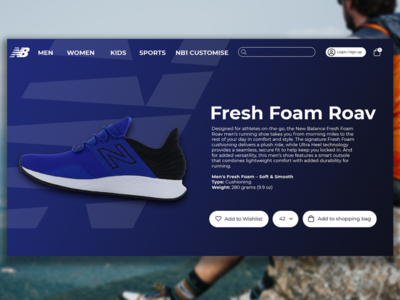 New Balance website web ux ui design