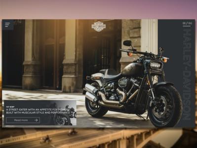 Harley Davidson website web ux ui design