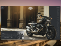 Harley Davidson website web ux ui design