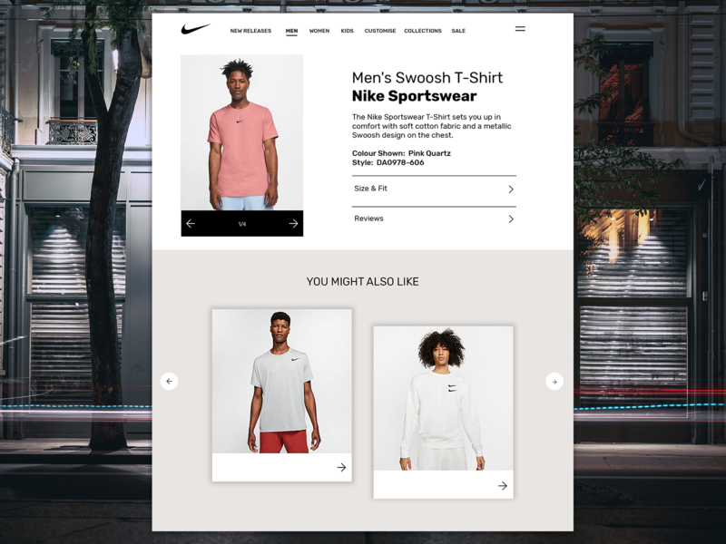 Nike - Web Design webdesign website web ux ui design nike