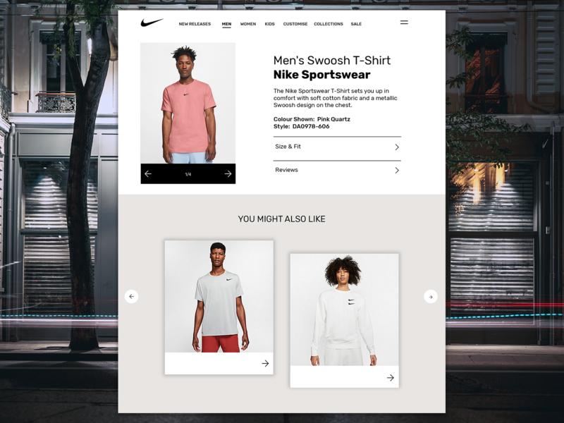 Nike - Web Design webdesign website web ux ui design nike