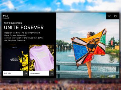 TML by Tomorrowland - Webdesign tomorrowland webdesign website web ux ui design