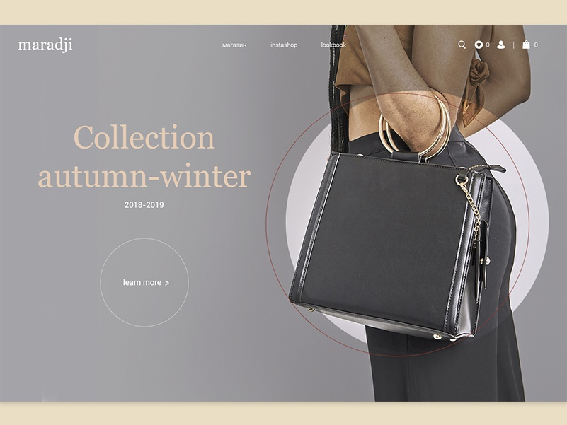 Fashion bags site concept illustration website design ui web дизайн