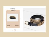 Carmen black accessories