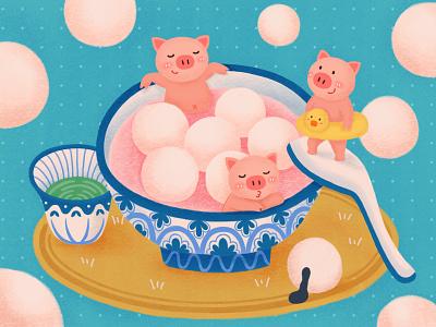 the Lantern Festival food pig festival 插图